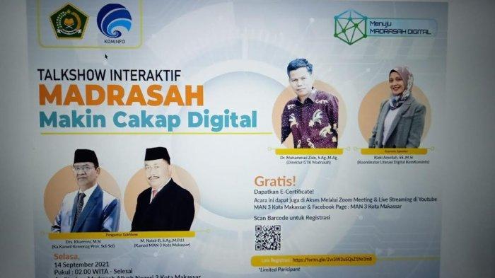 Besok, Kemenag dan Infokom Gelar Talksow Madrasah Makin Cakap Digital