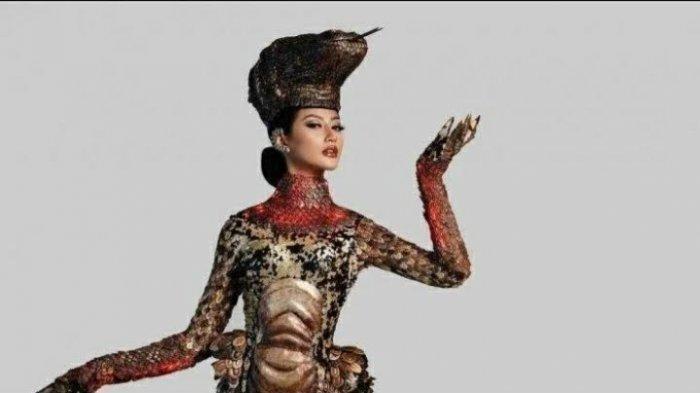 Makna Kostum Komodo yang Dikenakan Ayu Maulida di Ajang Miss Universe 2020