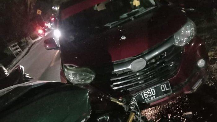 Kronologi Kecelakaan yang Libatkan 5 Kendaraan di Ci'nong Jeneponto, 1 Pengendara Tewas, Sabtu (21/11/2020).