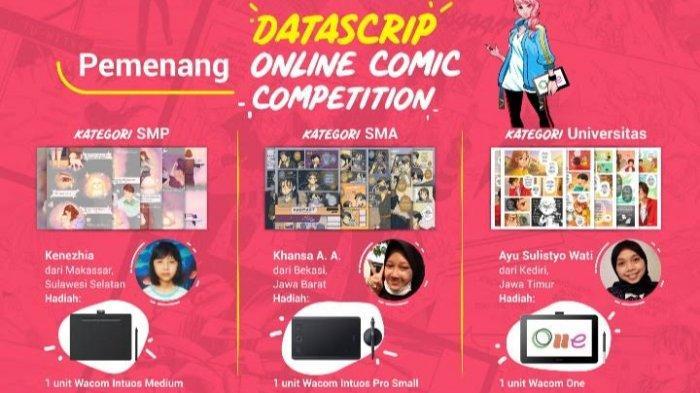 Kenezhia, Siswi SMP di Makassar Raih Juara Datascrip Online Comic Competition