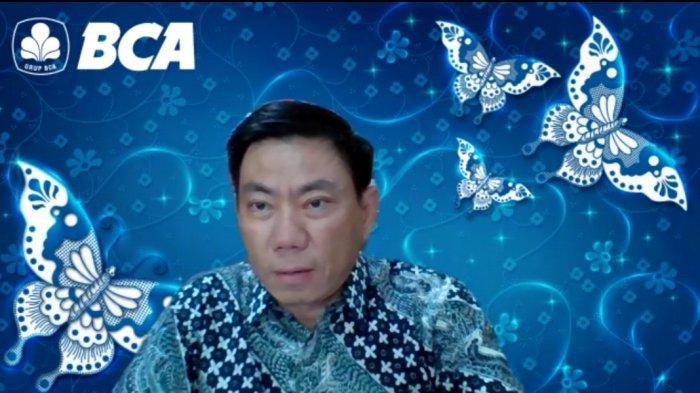 Kepala BCA Kanwil IV Hendrik Sia saat menggelar press rilis kinerja BCA Kanwil Makassar di tahun 2020.