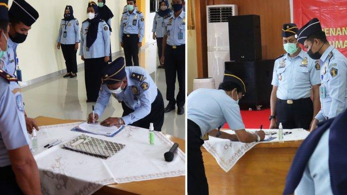 Kepala Rudenim Makassar Berganti, Alimuddin Gantikan Togol Situmorang, ASN Teken 2 Pakta Integritas