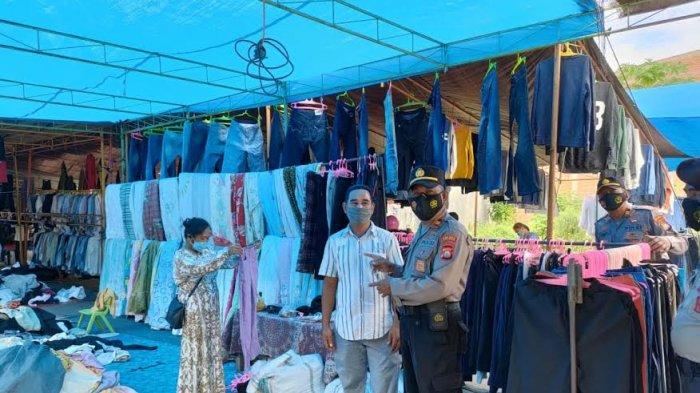 Antisipasi Peredaran Uang Palsu, Polisi Datangi Pedagang di Pasar Sentral Polewali