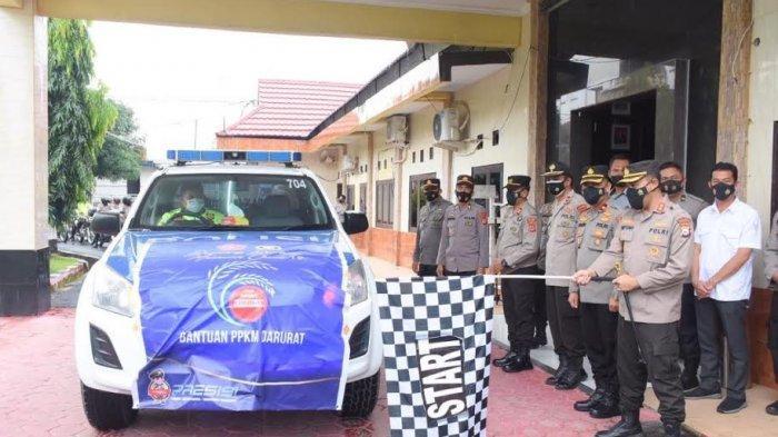 PPKM Mikro, Polres Bulukumba Distribusikan 150 Karung Beras ke Masyarakat