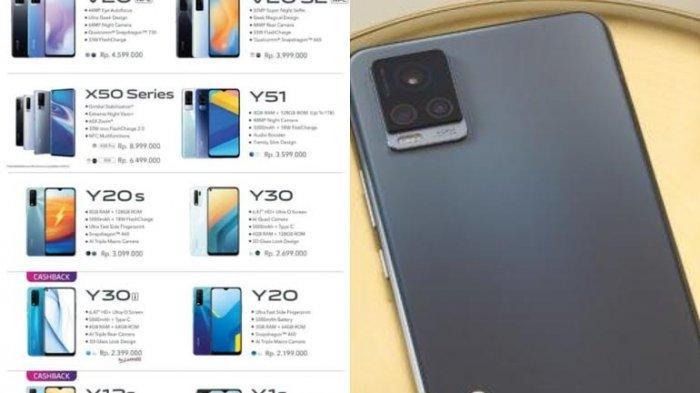 Daftar Harga Terbaru Hp Vivo Februari 2021 di Erafone, Turun Harga Vivo V20, Y50, Y30, Spesifikasi