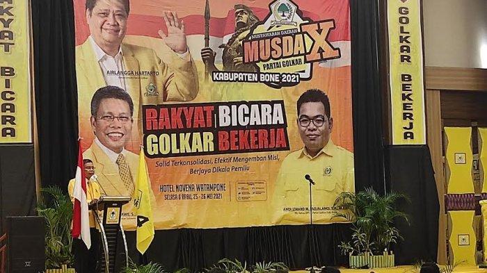 Musda Partai Golkar Bone Dibuka, Suara Taufan Pawe Gubernurku Menggema