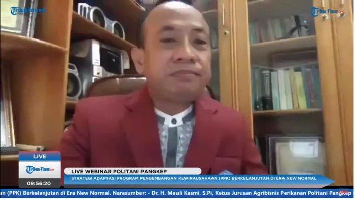 Webinar Politani Pangkep, Dr Mauli Kasmi Bagi Tips Usaha Bidang Agribisnis Perikanan di Masa Pandemi