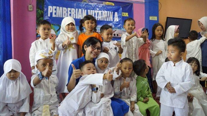 Balita Lantamal VI Makassar Diberi Vitamin oleh DJA II, Ini Tujuannya