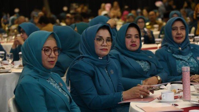 Lies F Nurdin Hadiri Pelantikan Ketua Umum TP PKK Pusat di Jakarta