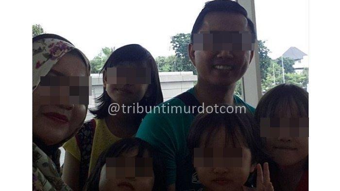 Erlita Dewi, mantan suami dan 4 anaknya saat masih bersama