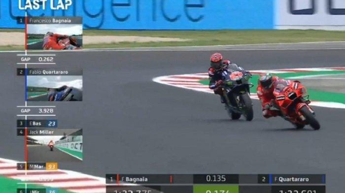 Klasemen Lengkap MotoGP 2021 Setelah Bagnaia Asapi Quartararo di San Marino, Jarak Semakin Menipis