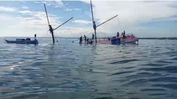 Kronologi Tenggelamnya Kapal Pinisi Milik Dispar Bulukumba