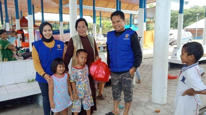 KNPI Luwu Timur Salurkan Bantuan ke Pengungsi Gempa Sulbar