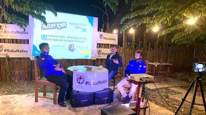 Launching Kegiatan Ngobrol Pintar, KNPI Soppeng Bahas Peranan Pemuda dalam Pembangunan