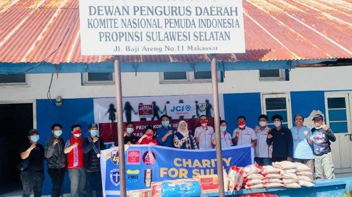 KNPI Sulsel, Gema INTI Sulsel dan JCI East Java Charity for Sulbar