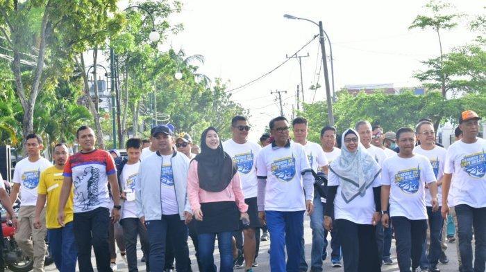 Jalan Sehat Pemuda KNPI Sulsel, NA: Jangan KKN, Siapkan Diri di 2045 Nanti
