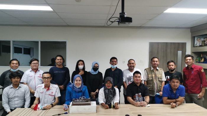 Ketua KNPI Sulsel Nurkanita Maruddani Kahfi Tamu Pertama di Ulang Tahun Tribun Timur ke-17