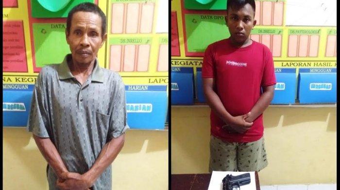 Ancam Warga Pakai Parang dan Softgun, Bapak dan Anak di Wajo Ditangkap Polisi