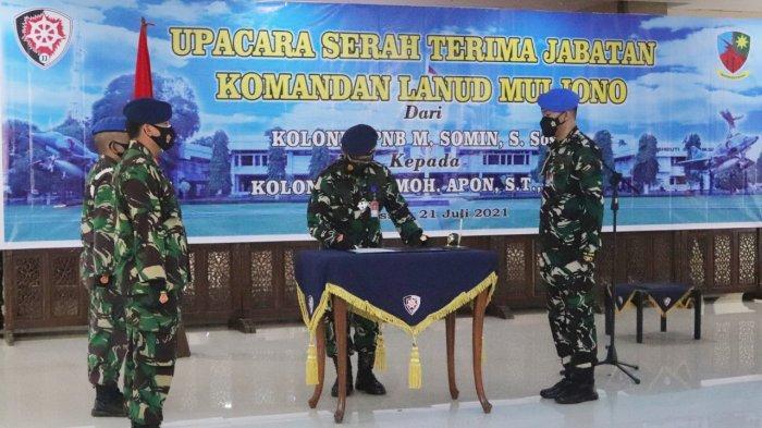Pangkoopsau II Pimpin Sertijab Komandan Lanud Muljono, Ingatkan Program Serbuan Vaksinasi
