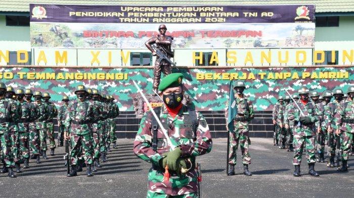327 Prajurit Ikut Pendidikan Pembentukan Bintara TNI AD di Rindam XIV/Hasanuddin
