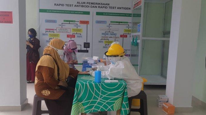 Jajaran KPU Provinsi Sulbar Jalani Rapid Test