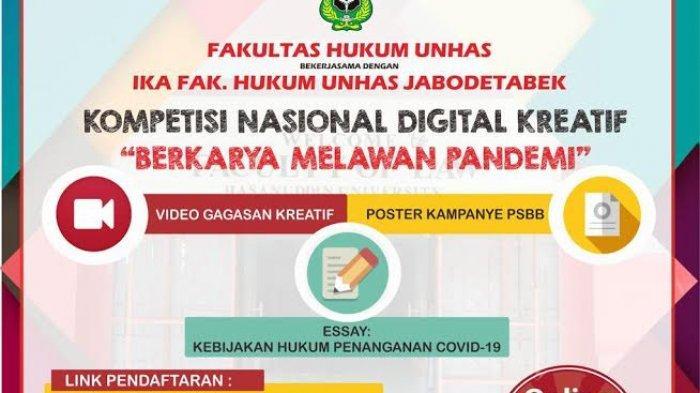 Yuk Ikutan Kompetisi Kreatif Digital Fakultas Hukum Unhas, Berhadiah Jutaan Rupiah