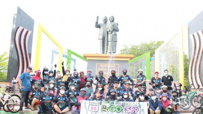 Perkuat Promosi Wisata Daerah, Komunitas goGOsS89 Gowes ke Kota CInta Ainun-Habibie lalu ke Pinrang