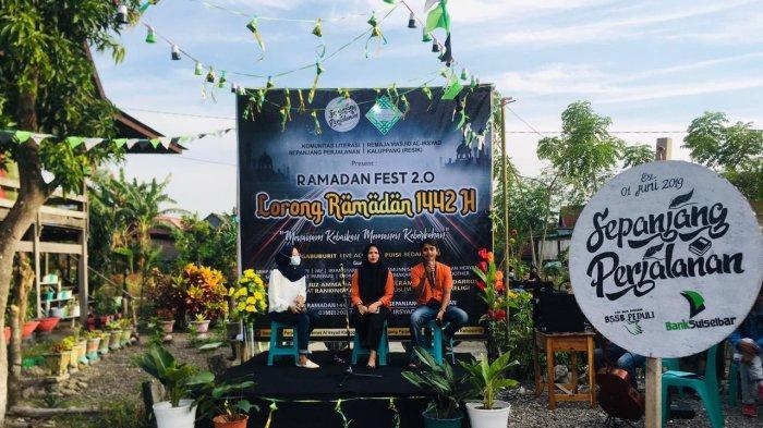 Ngabuburit di Lorong Ramadan Kaluppang Pinrang, Ada Takjil Gratis dan Pertunjukan Literasi