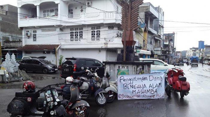 Komunitas Scooteris Pinrang Galang Dana untuk Korban Banjir Bandang di Masamba