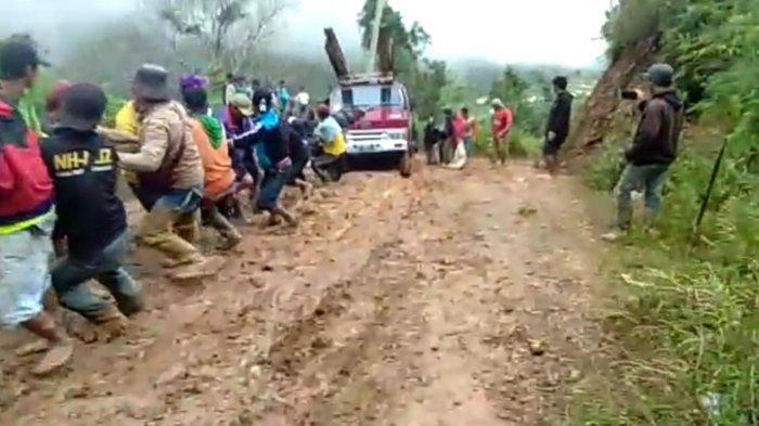 Rusak Parah, Warga Minta Akses Jalan Penghubung Kecamatan Bungin-Maiwa Enrekang Diperbaiki