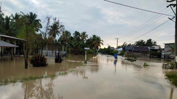 Sudah 3 Hari Banjir Rendam Pemukiman di Pesisir Luwu Utara