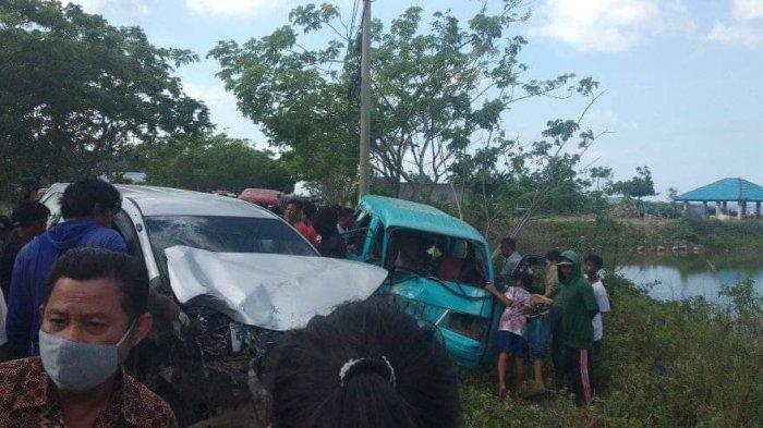 Kecelakaan di Kampung Samasiking Bantaeng, Sopir Pete-pete dan 1 Penumpang Luka