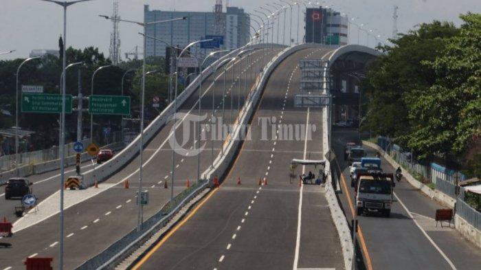 Kondisi jalan Tol Layang AP Pettarani sudah siap pakai saat diabadikan Rabu (18/11/2020).