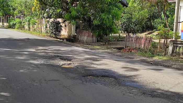 Dikeluhkan Pengendara, Hati-hati Jalan Berlubang di Poros Bone-Wajo di Desa Lappo Ase
