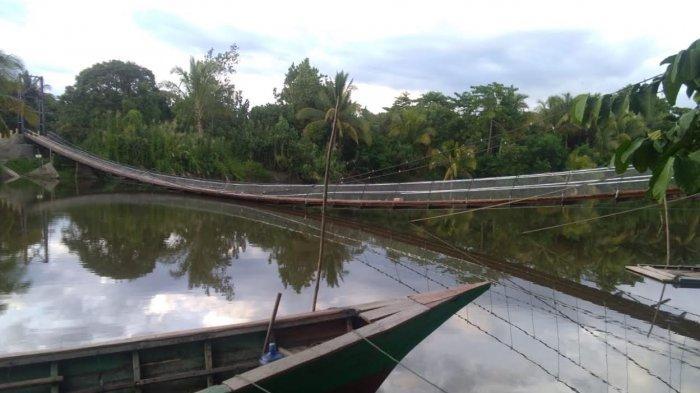 Jembatan Gantung Tabaroge Terancam Roboh dan Ancam Keselamatan Warga, PPK Disalahkan