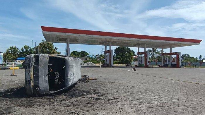 Kronologi Mobil Mini Bus Terbakar di SPBU Pao-pao Barru