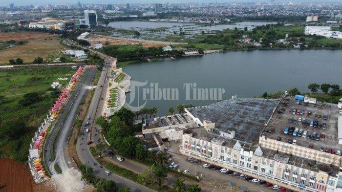Foto Drone; Ikon Baru Amphitheater di Kawasan Tanjung Bunga - kondisi-pedestrian-kawasan-jl-metro-tanjung-bunga-terekam-menggunakan-kamera-drone-5.jpg