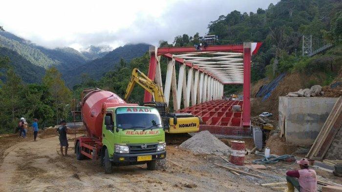 Jembatan Penghubung Palopo-Toraja di KM 24 Battang Barat Ditarget Rampung Akhir Agustus