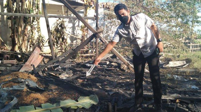 Kesaksian Tetangga Hamja, Angin Kencang Membuat Api Capat Menjalar dan Hanguskan Rumah