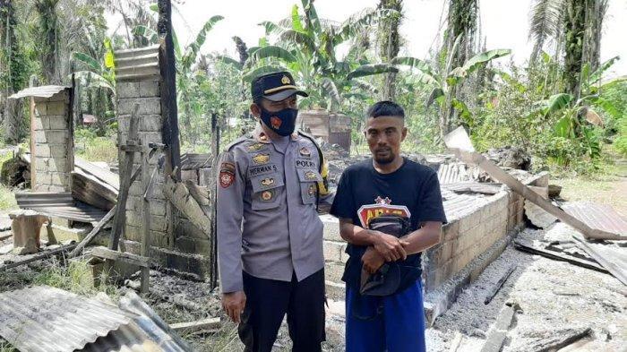 Ditinggal Pemilik Bermalam di Kebun, Rumah Warga Mateng Hangus Terbakar