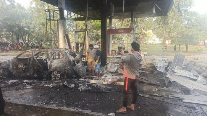 BREAKING NEWS; SPBU di Bungoro Pangkep Hangus Terbakar, Bocah 15 Tahun Meninggal Dunia