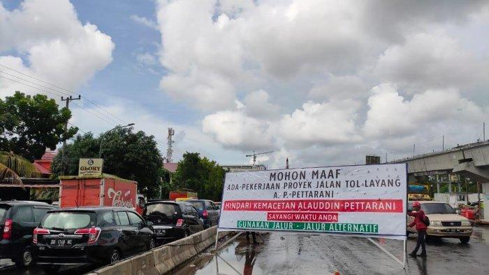 Kondisi Terkini Arus Lalu Lintas di Sekitar Pembangunan Tol Layang Pettarani Makassar