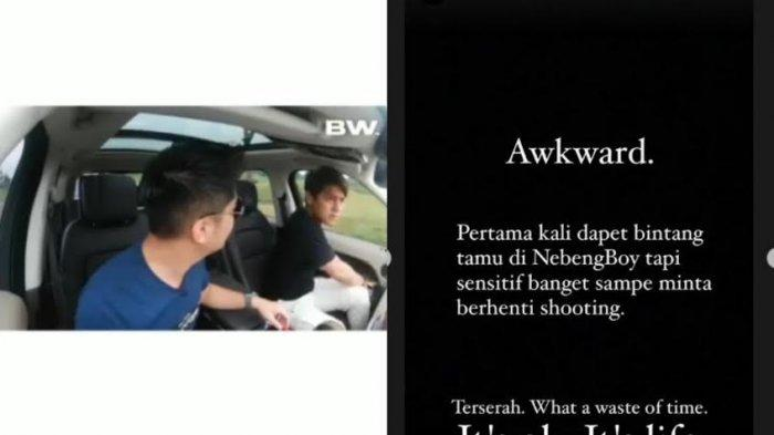 Video Detik-detik Rizky Billar Keluar dari Mobil Boy William Karena Tersinggung soal Lesty Kejora