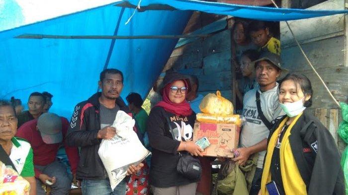 Kosaster Siin Unasman dan Karang Taruna Polman Distribusikan Beras Hingga Popok Bayi di Somba