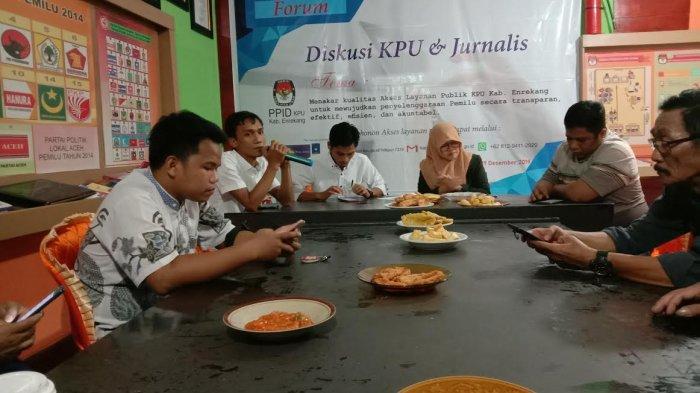 Evaluasi Pelaksanaan Pemilu, KPU Enrekang Gelar Diskusi Bersama Jurnalis