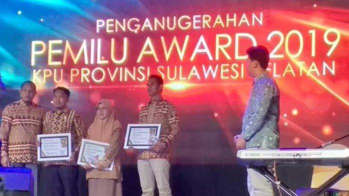 Ini Tiga Penghargaan Diraih KPU Enrekang di Pemilu Award 2019
