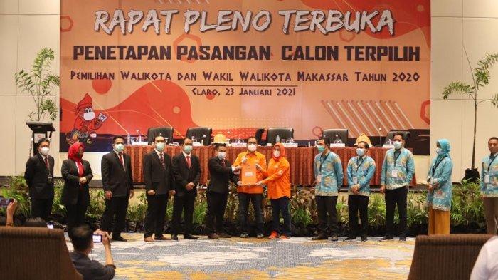 FOTO: KPU Makassar Tetapkan ADAMA Pemenang Pilwali 2020