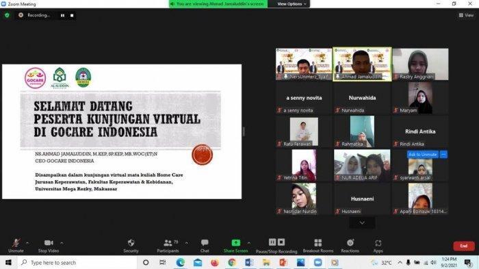 Mahasiswa Keperawatan Unimerz Kunjungan Virtual di Pusat Perawatan Luka Diabetes GoCare Gorontalo