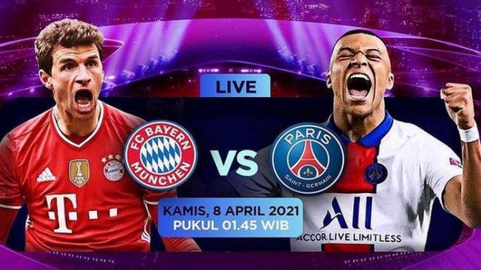 Nonton TV Online 4 LINK Live Streaming Liga Champions Bayern Munchen vs PSG - Nonton Gratis di HP