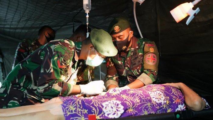 Tim Kesehatan Kodam XIV Hasanuddin Stay 24 Jam Layani Korban Gempa Sulbar